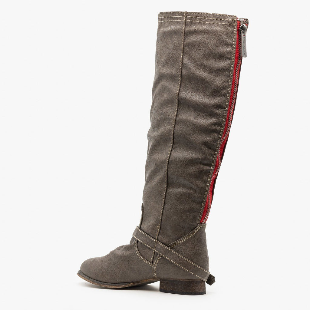 Womens Knee High Riding Boots - Breckelles