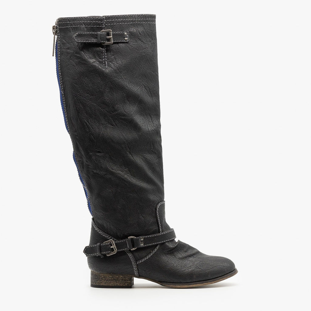 Womens Knee High Riding Boots - Breckelles - Black / 5
