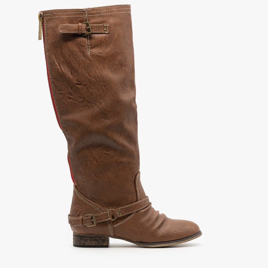 Womens Knee High Riding Boots - Breckelles - Tan / 5