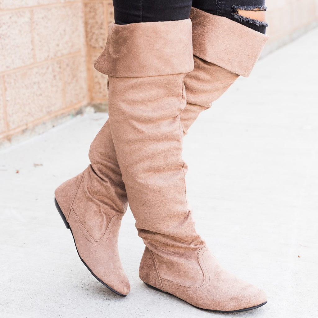 Women's Knee-High Suede Boots - Forever