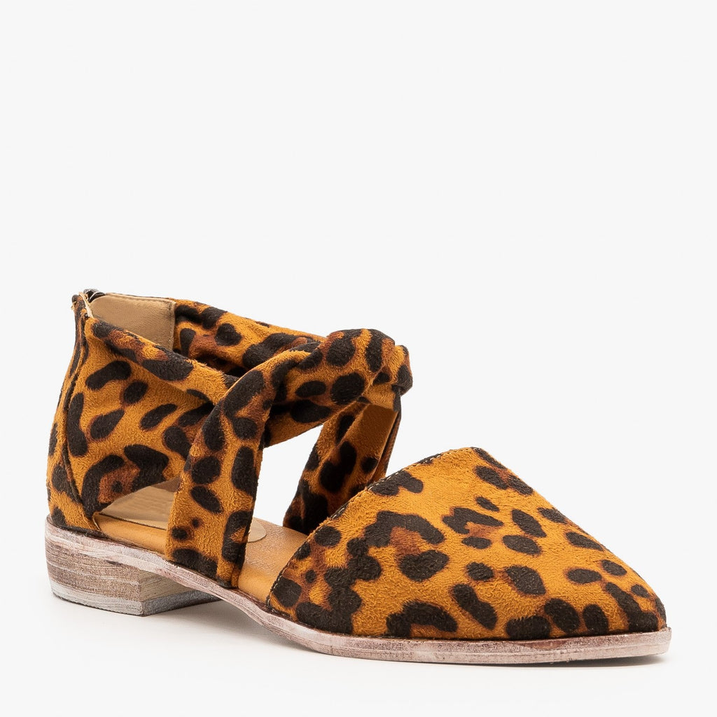 Womens Knotted Cutout Flats - ARider Girl