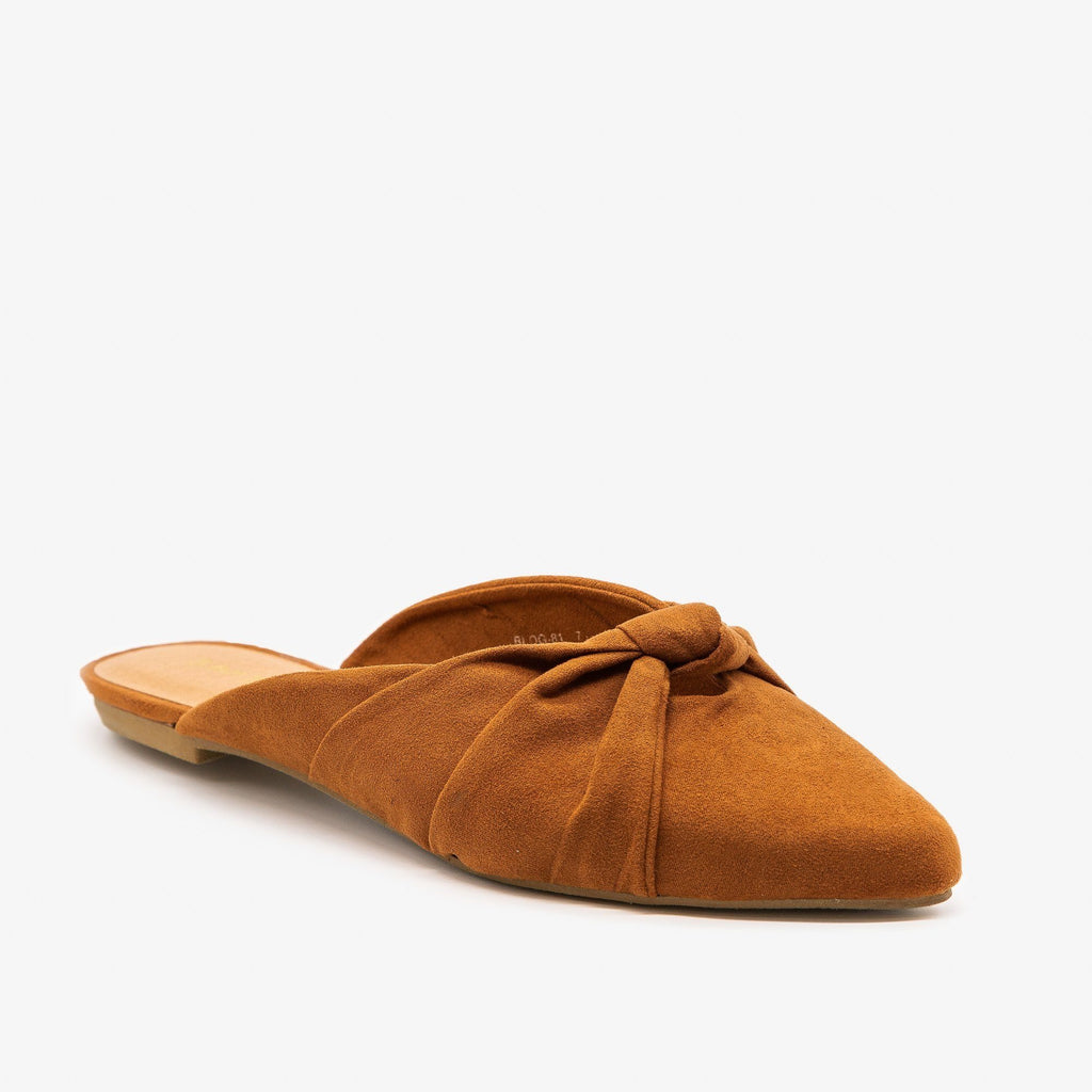Womens Knotted Sweetheart Mules - Bamboo Shoes