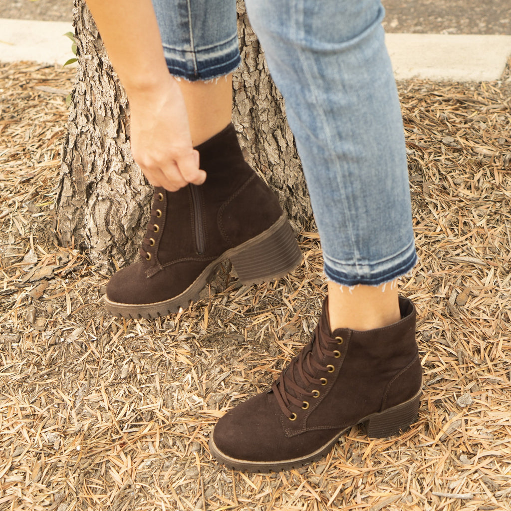 Women's Luxury Combat Boots - Reneeze Shoes