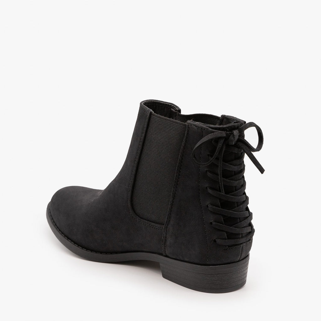 Womens Lace-Up Corset Booties - City Classified Shoes