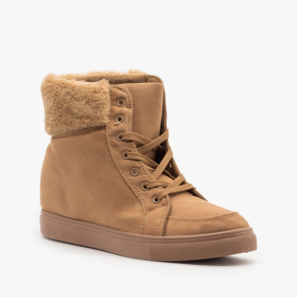 Lace-Up Winter Boots - Refresh Shoes