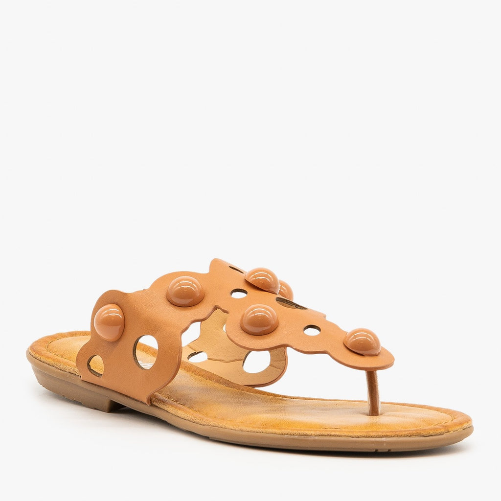 Womens Laser-Cut Bubble Sandals - Weeboo