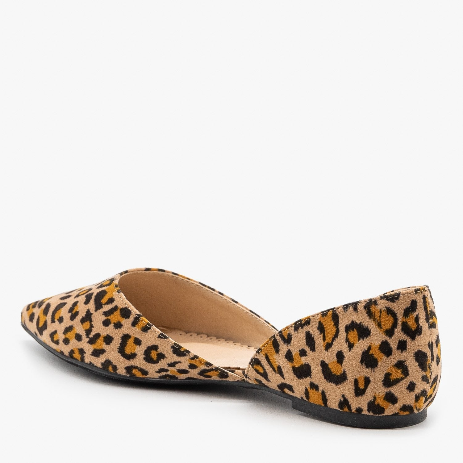 Leopard Print d'Orsay Pointed Toe Flats