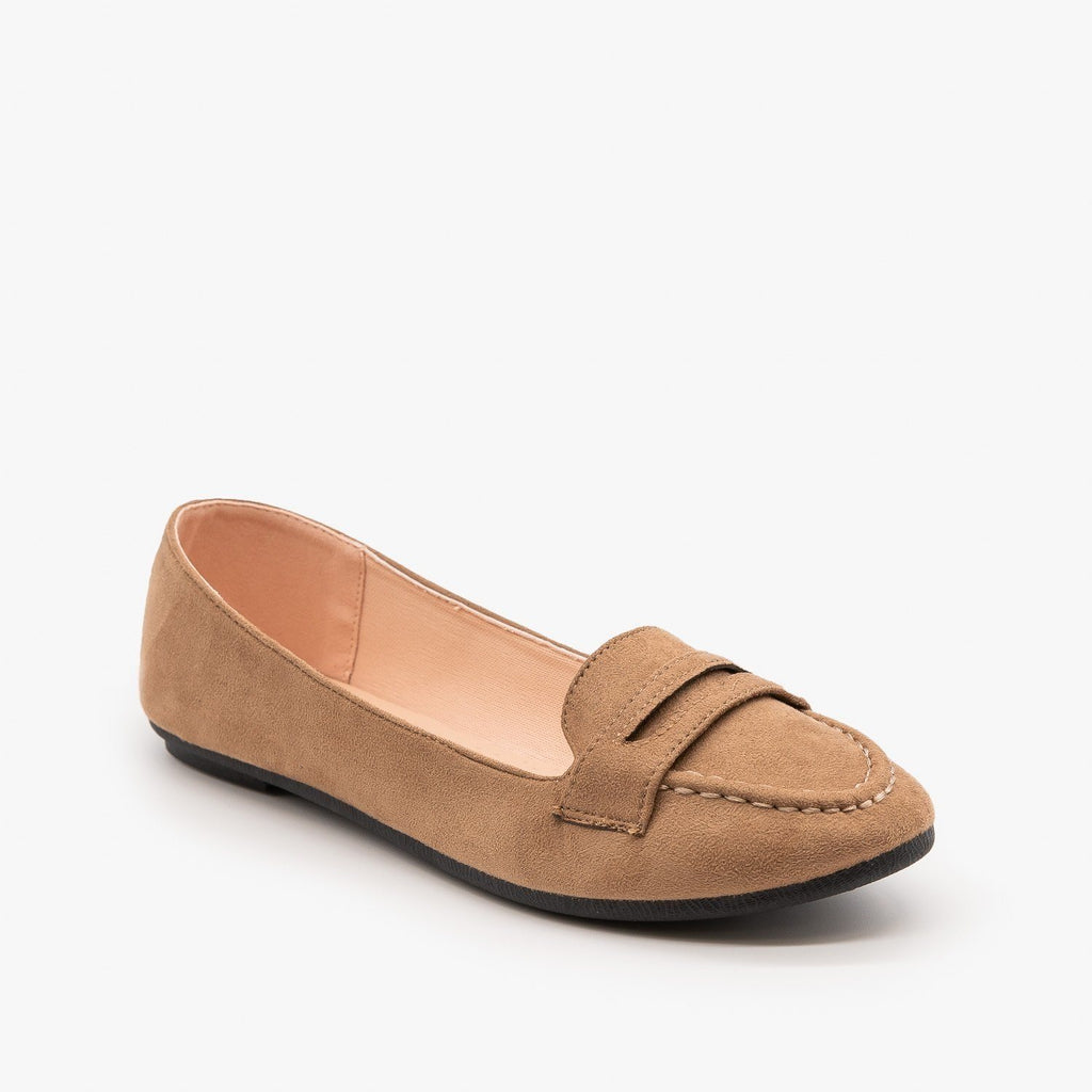 Womens Loafer Flats - Forever - Taupe / 5
