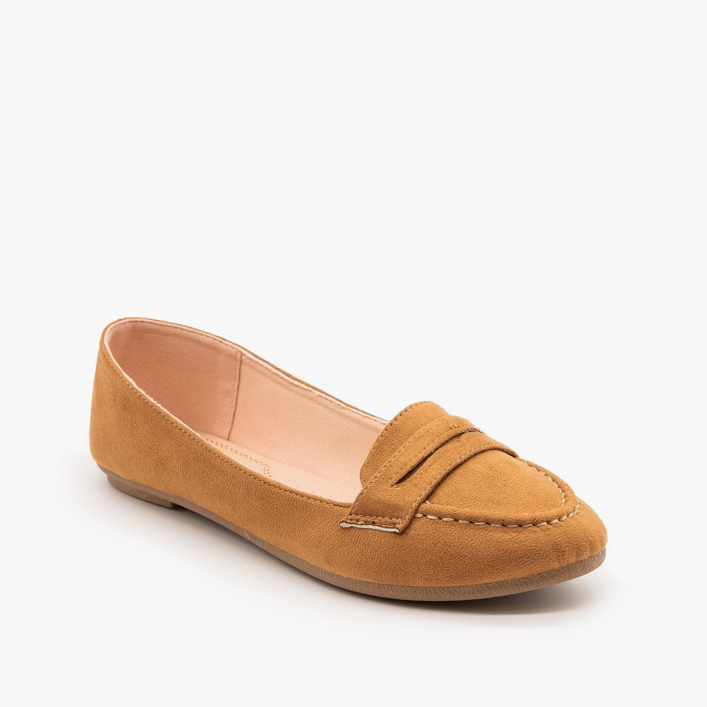 Womens Loafer Flats - Forever - Tan / 5