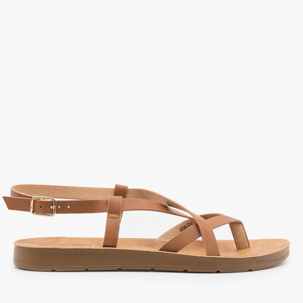 Women's Lovely Criss Cross Fashion Sandals - Refresh