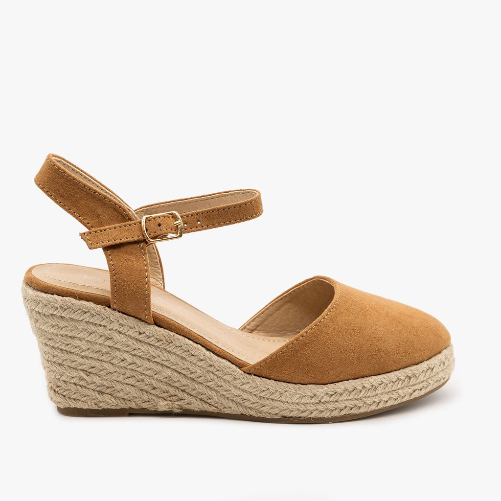 Womens Lovely Everyday Espadrille Wedges - Top Moda - Tan / 5