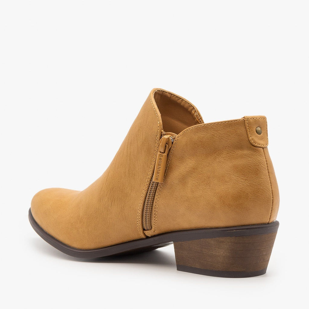 Womens Lovely Low Ankle Booties - Bella Marie