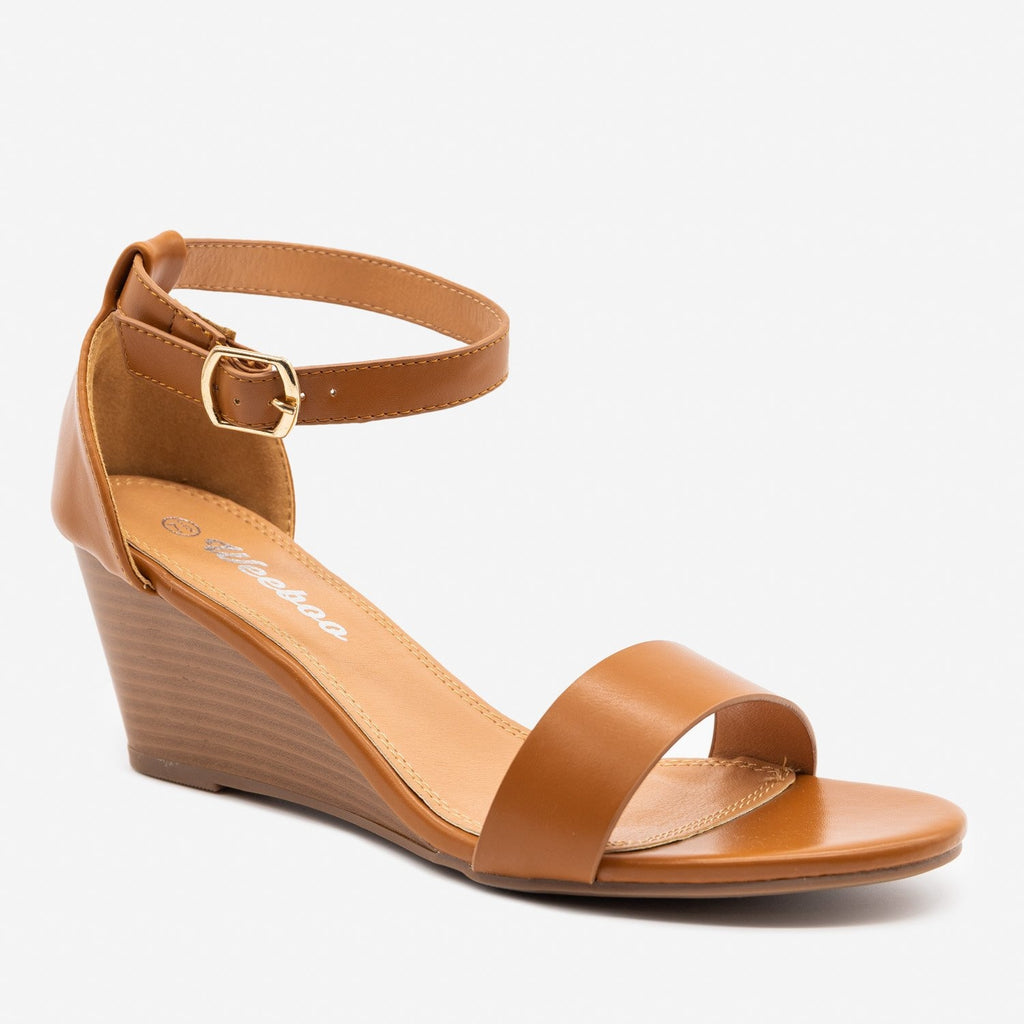 Women's Lovely Stacked Wedge Heels - Weeboo