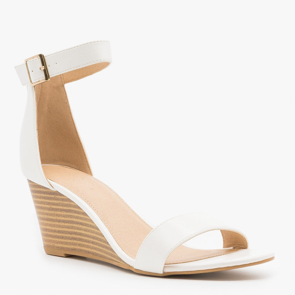 Lovely Stacked Wedges - CR Shoes