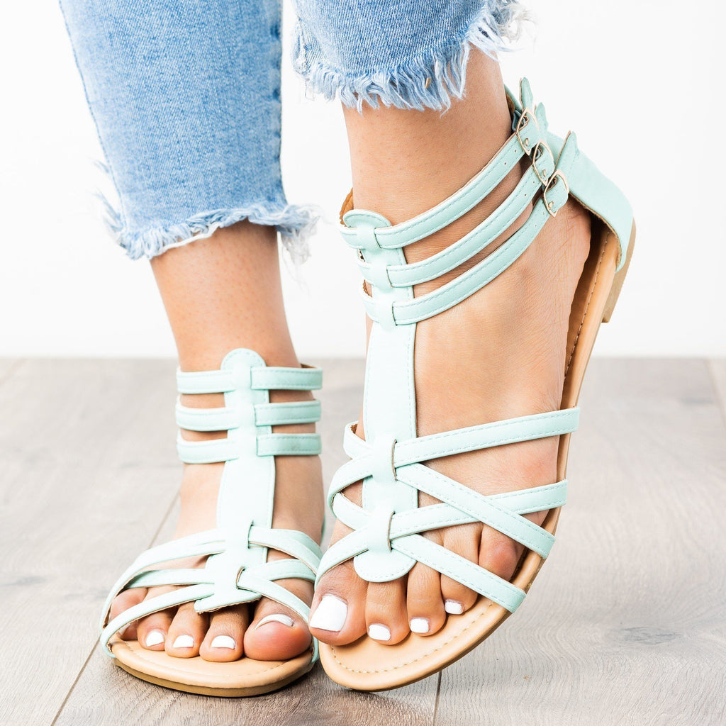 Womens Lovely Strappy Gladiator Sandals - Anna Shoes