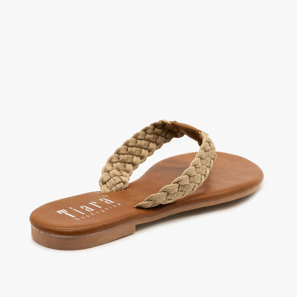 Womens Macrame Braided Sandals - Tiara Shoes