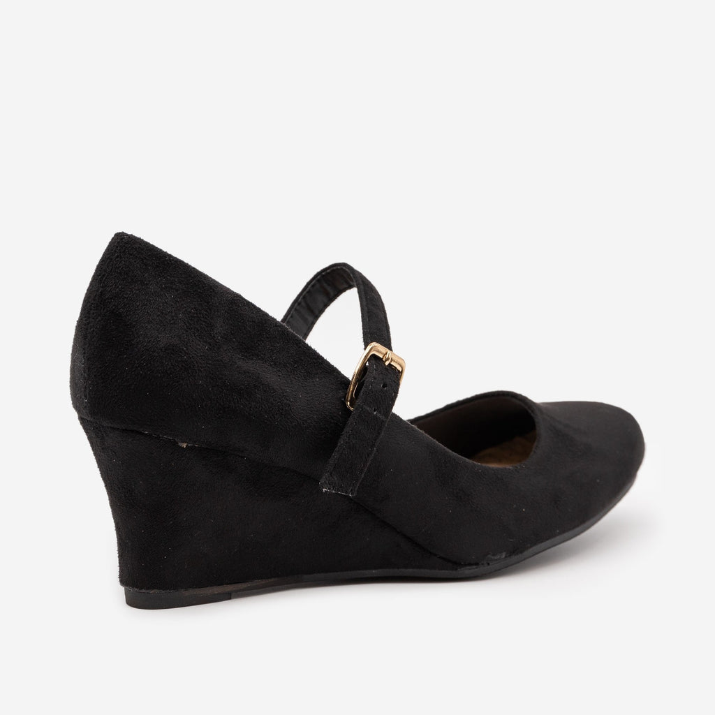 Women's Mary Jane Wedge Heels - Anna Shoes
