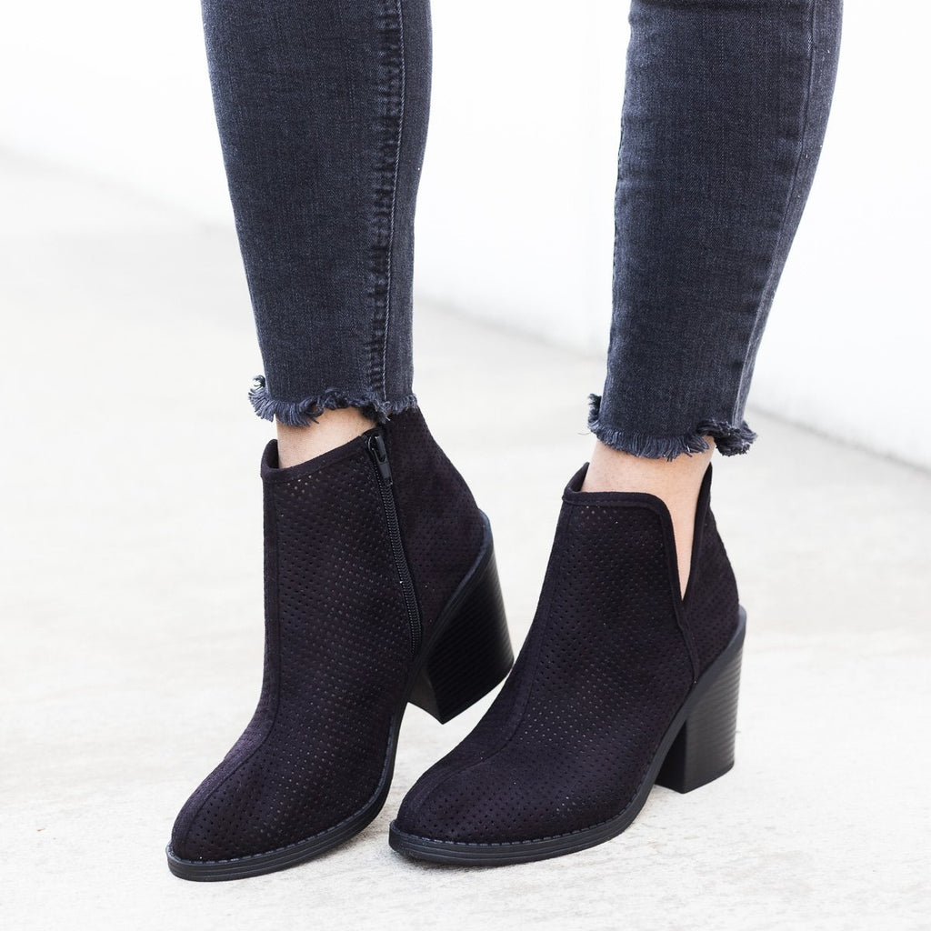Womens Mesh Ankle Booties - Soda Shoes