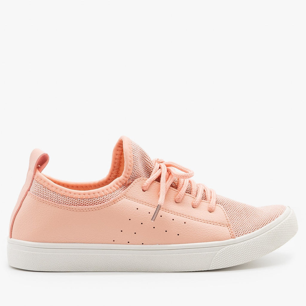 Womens Mesh Athleisure Sneakers - Forever - Rose / 5