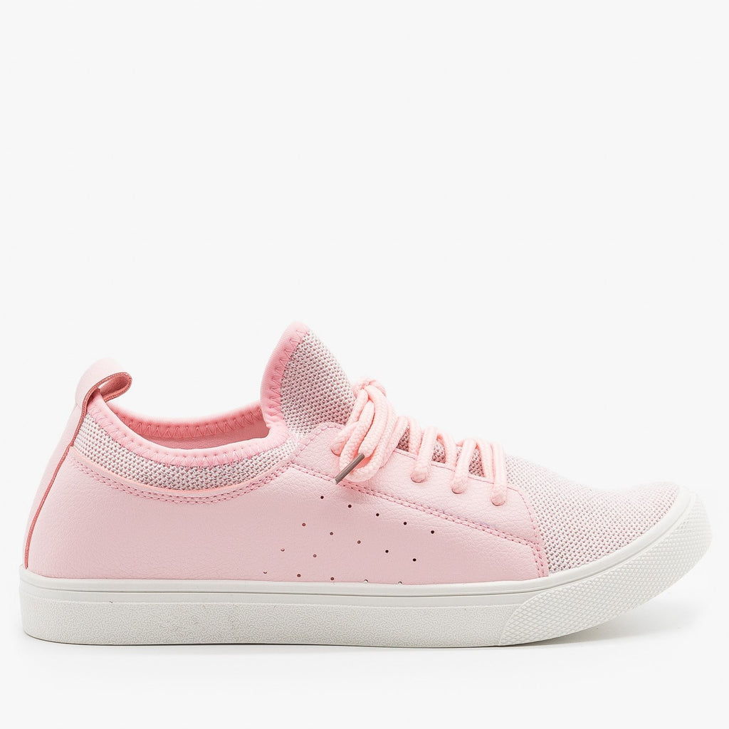 Womens Mesh Athleisure Sneakers - Forever - Pink / 5