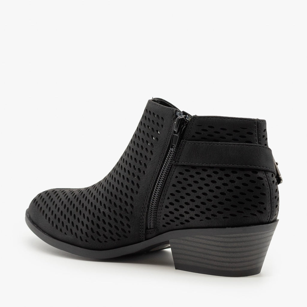 Womens Mesh Pointed Toe Ankle Booties - Soda Shoes
