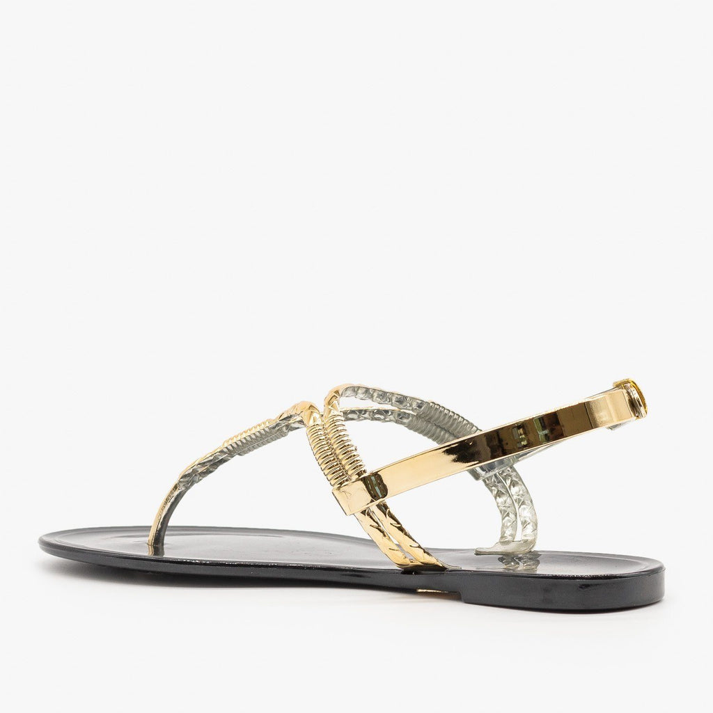 Womens Metallic Jelly Sandals - Bamboo Shoes