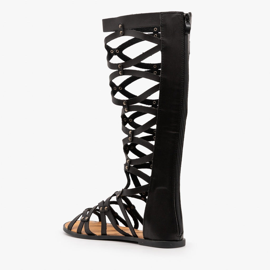 Womens Mid Calf Gladiator Sandals - Yoki