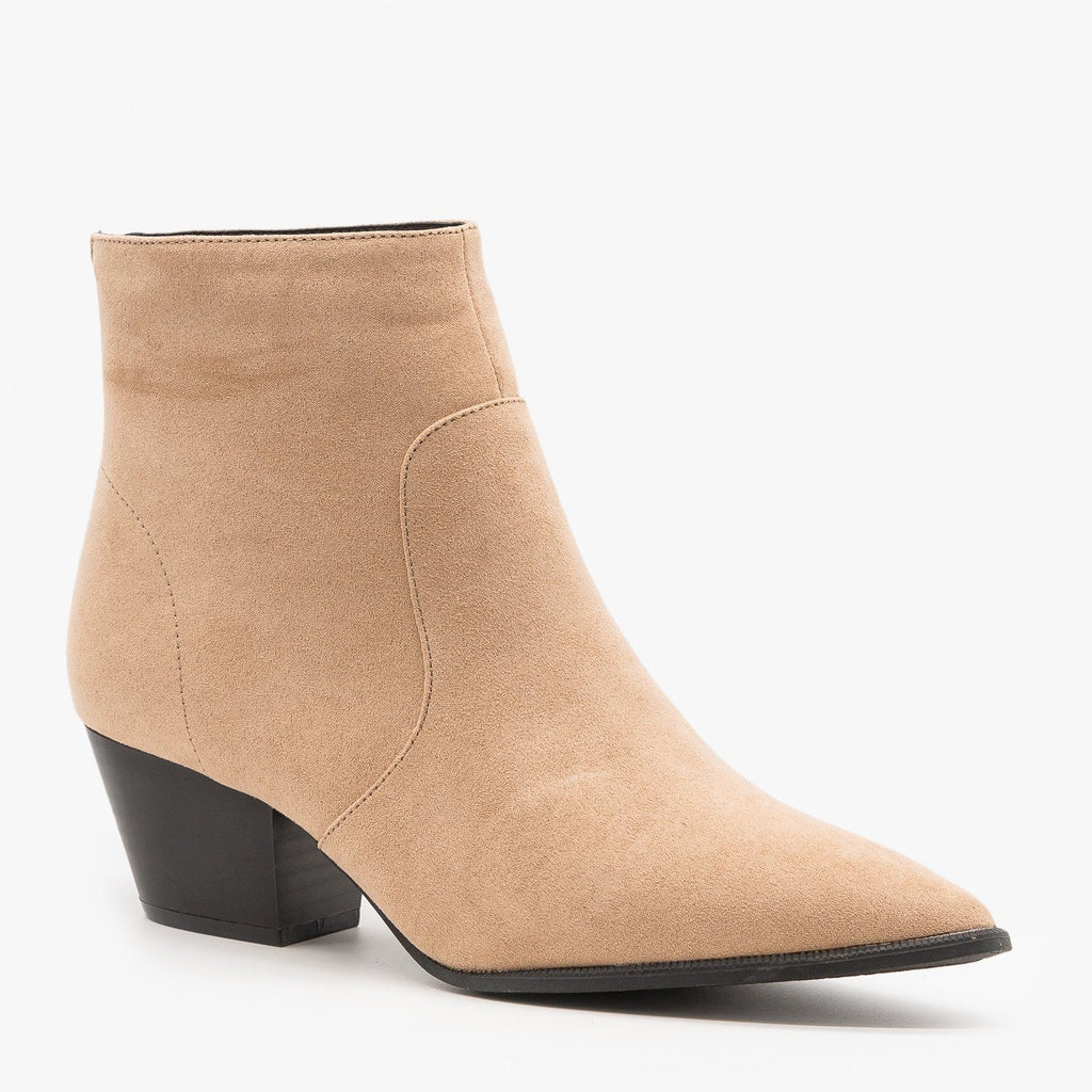 Womens Modern Ankle Booties - Qupid Shoes