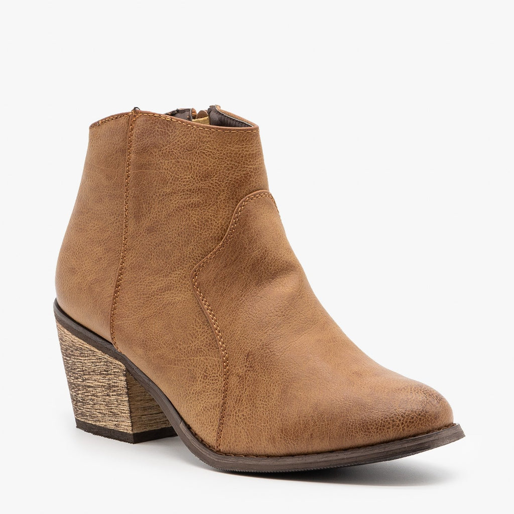 Womens Modern Cowboy Booties - Reneeze Shoes