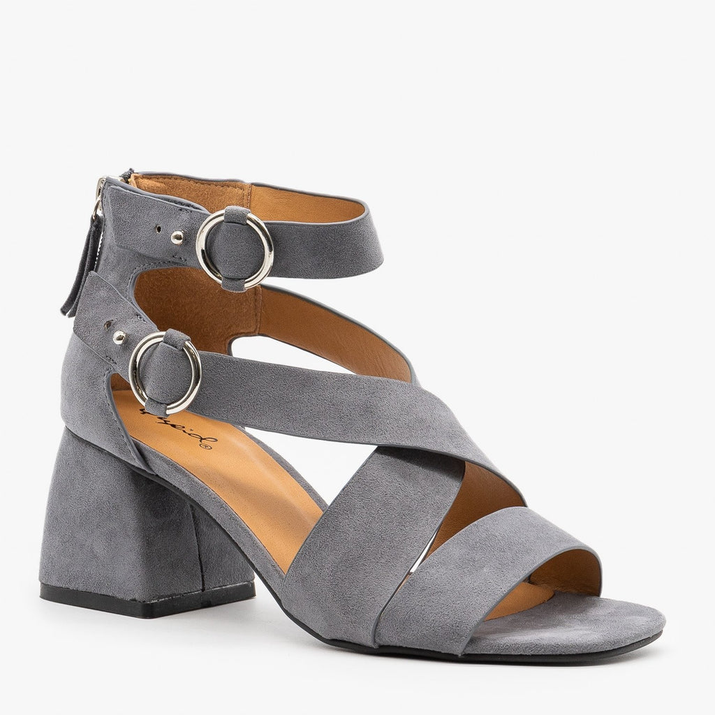 Womens Modern Minimalist Heels - Qupid Shoes