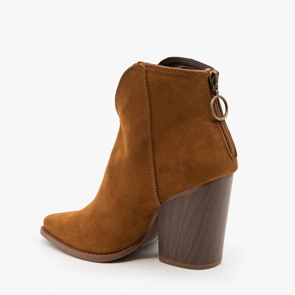 Womens Modern Western Booties - Qupid Shoes