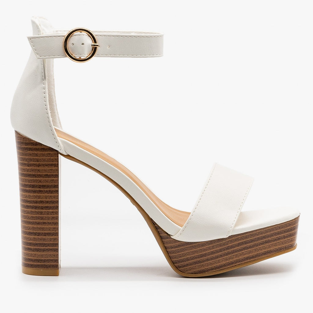 Womens Must-Have High Heels - Bamboo Shoes - White / 5