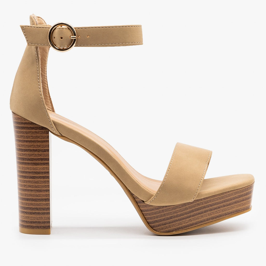 Womens Must-Have High Heels - Bamboo Shoes - Natural / 5