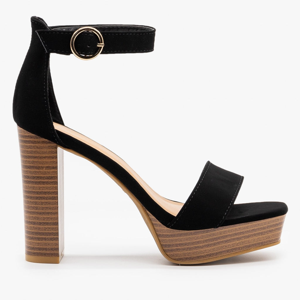 Womens Must-Have High Heels - Bamboo Shoes - Black / 5