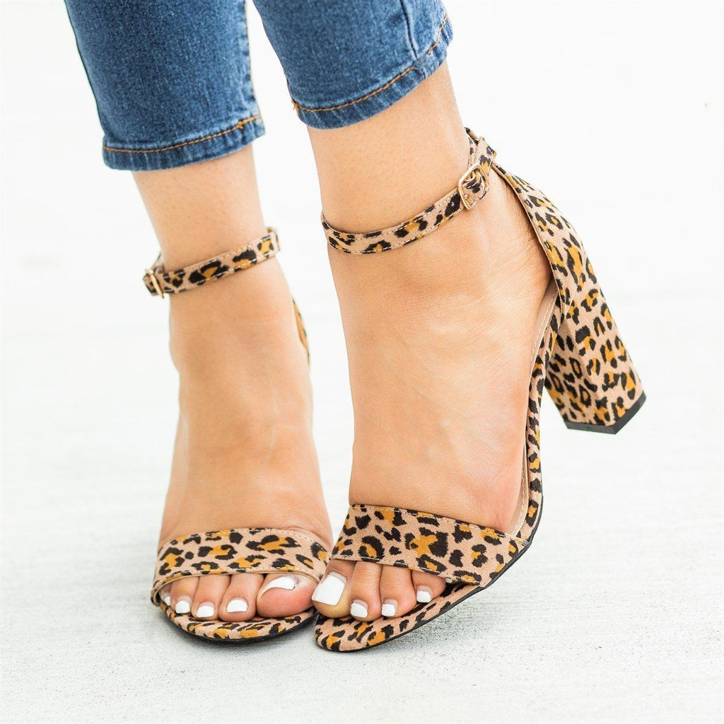 Womens Must-Have Open Toe High Heels - Refresh