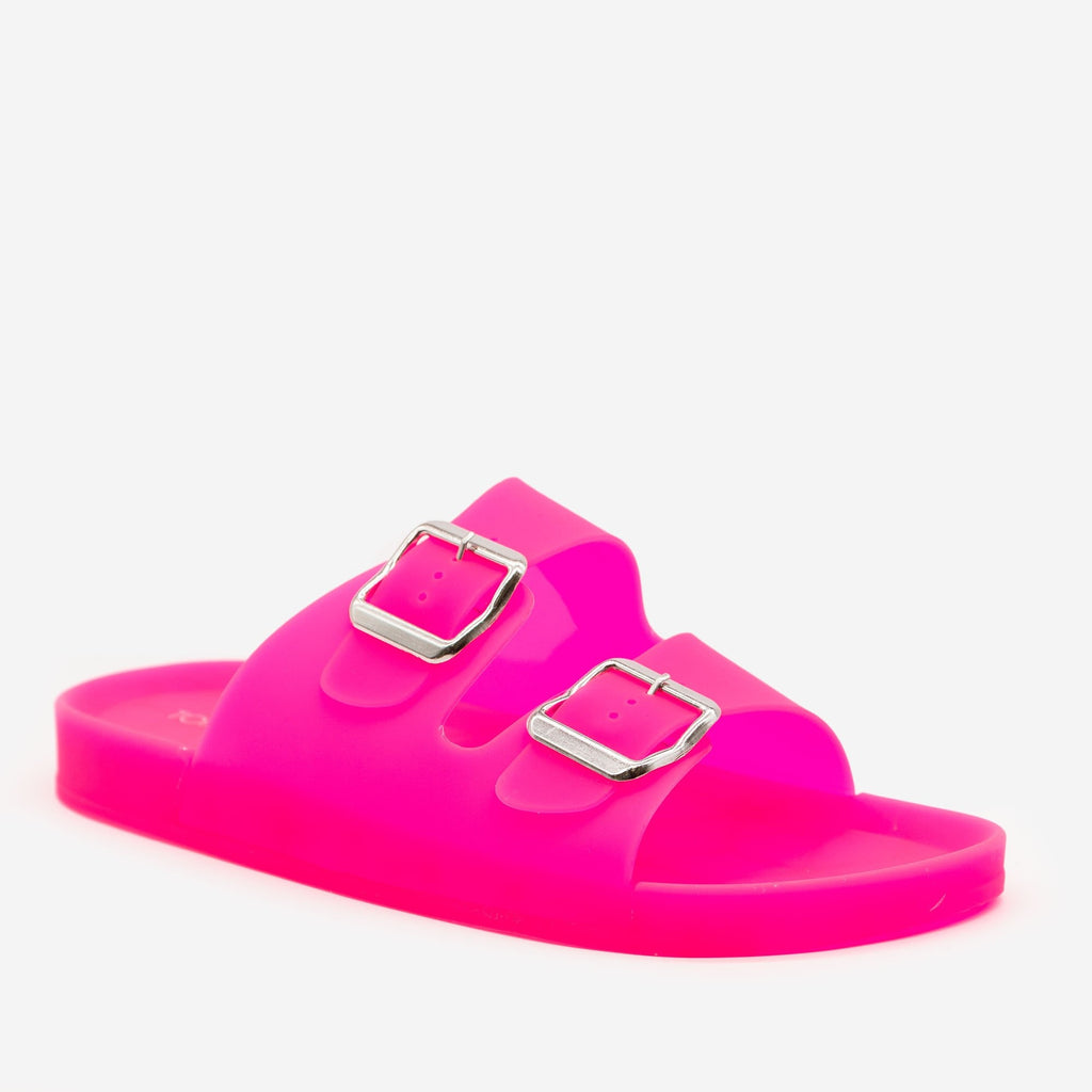 Women's Neon Jelly Slides - Top Moda