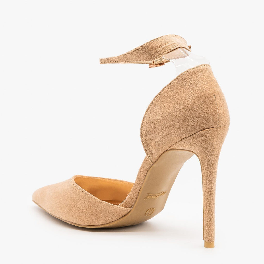 Womens Nude dOrsay Stiletto Heels - Anne Michelle