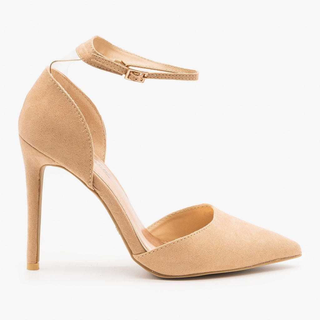 Womens Nude dOrsay Stiletto Heels - Anne Michelle - Nude / 5