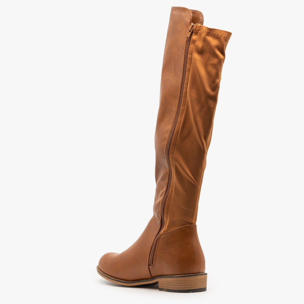 Womens Nylon Back Riding Boots - Glister