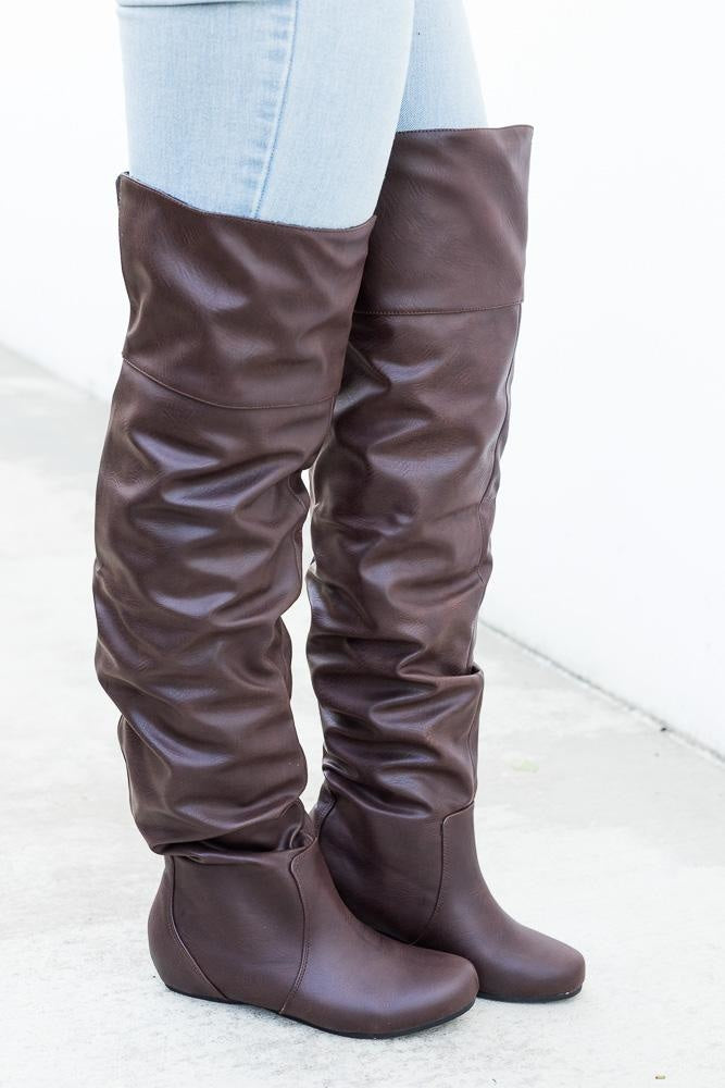 Over the Knee Slouchy Boots Soda Shoes
