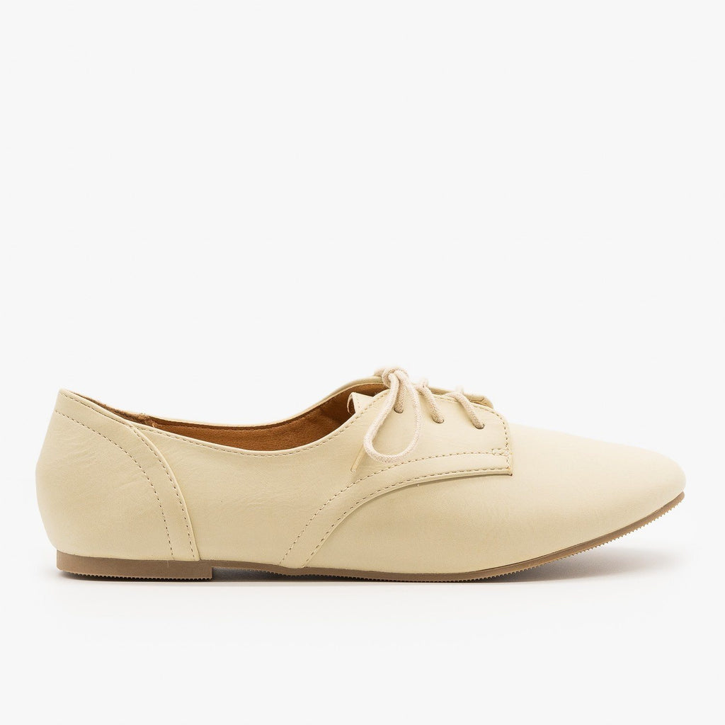 Womens Oxford-Inspired Flats - City Classified Shoes