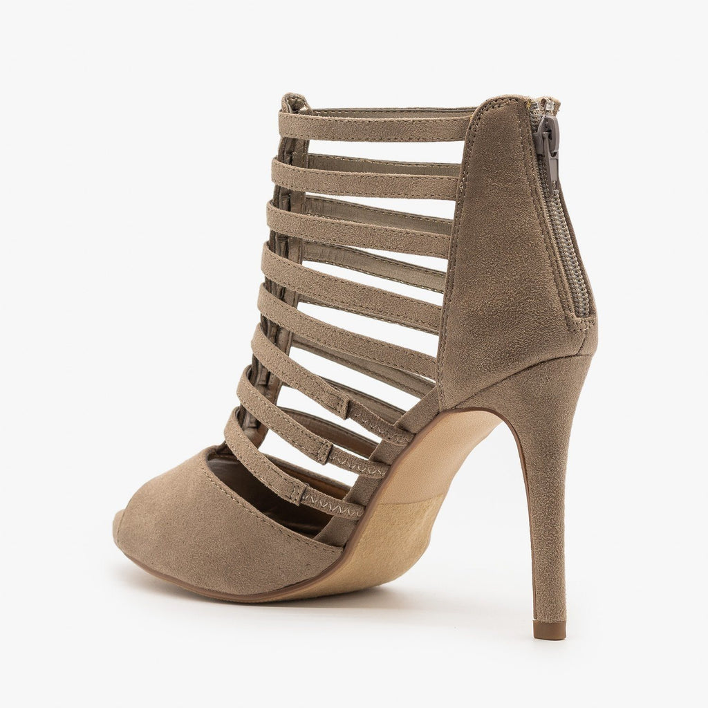 Womens Peep Toe Gladiator Heels - Delicious Shoes