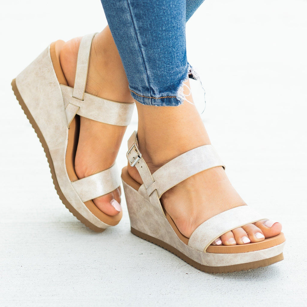 Womens Perfect Comfy Summer Sandal Wedges - Bamboo Shoes