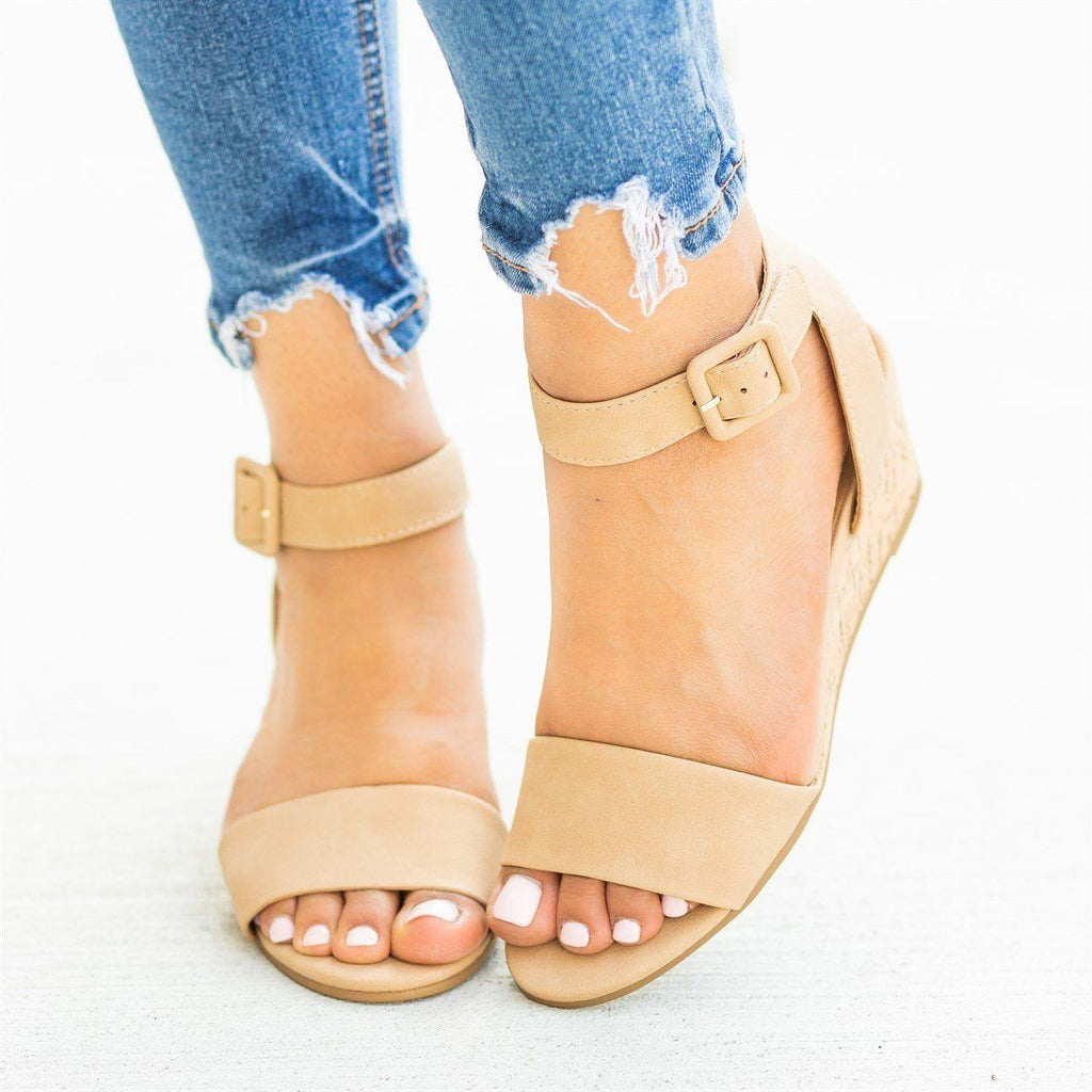 Womens Perfect Cork Summer Wedges - City Classified Shoes