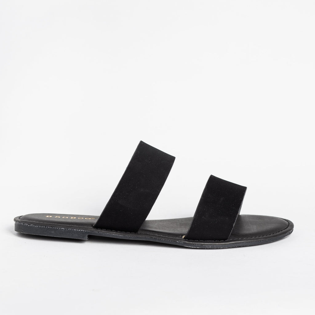 Womens Perfect Double Strap Slides - Bamboo Shoes
