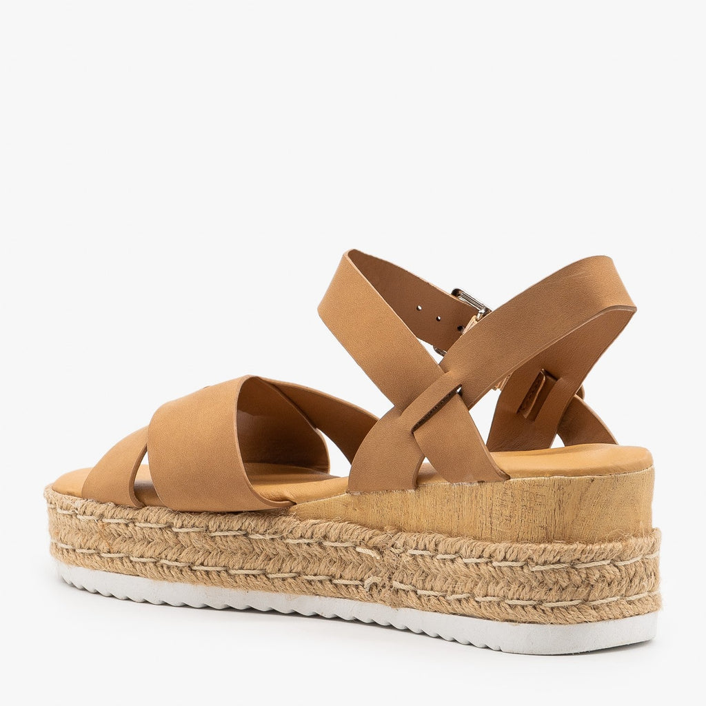Womens Perfect Espadrille Platform Wedge Sandals - Bamboo Shoes