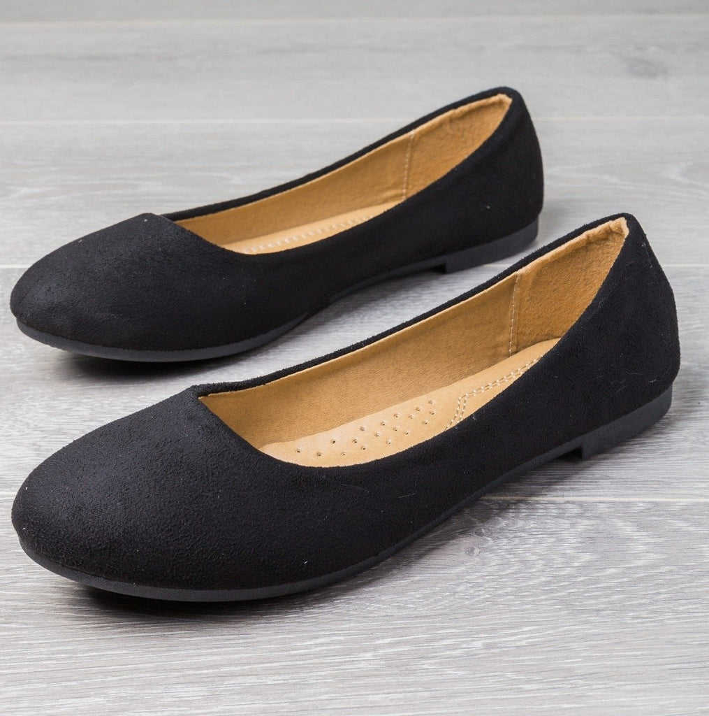Womens Perfect Everyday Flats - Forever - Black / 5