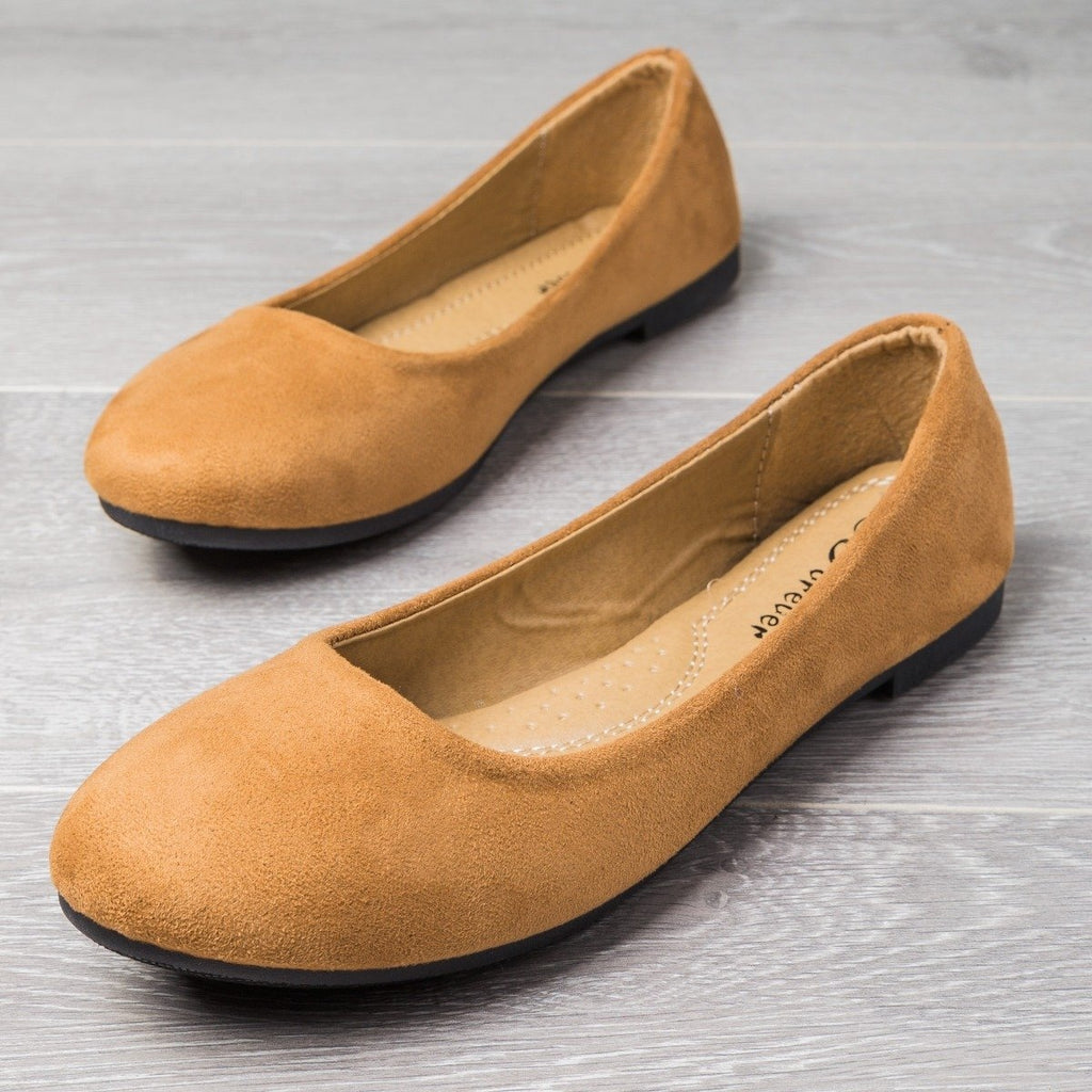 Womens Perfect Everyday Flats - Forever - Tan / 5