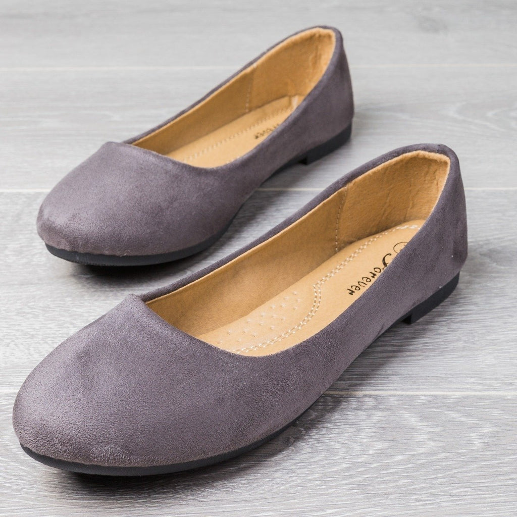 Womens Perfect Everyday Flats - Forever - Gray / 5