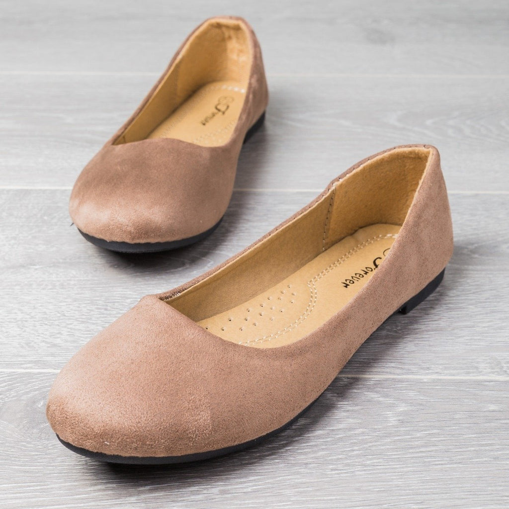Womens Perfect Everyday Flats - Forever - Taupe / 5